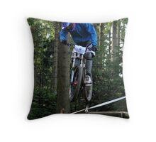 Mountain biking trials Throw Pillow
