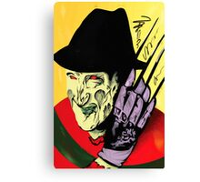 Freddy Krueger Trio - Yellow Background Canvas Print