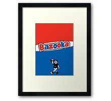 Bazooka bubble chewing gum Framed Print