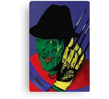 Freddy Krueger Trio - Blue Background Canvas Print