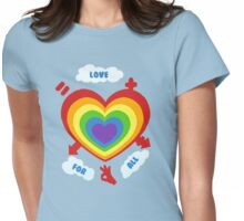 Love for All Womens Fitted T-Shirt