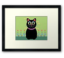 Cat, Butterflies, Lady Bug and a Snail Framed Print