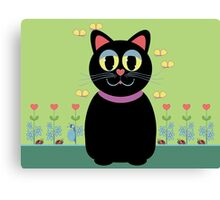Cat, Butterflies, Lady Bug and a Snail Canvas Print