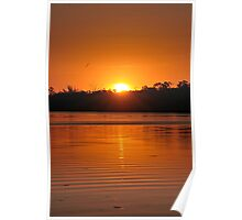 A Murray River Sunset Poster