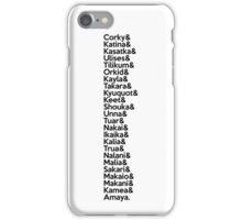 SeaWorld Pod Names (Black Text) iPhone Case/Skin
