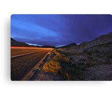 Desert Highway Lights Canvas Print
