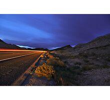 Desert Highway Lights Photographic Print