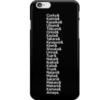 SeaWorld Pod Names (White Text) iPhone Case/Skin
