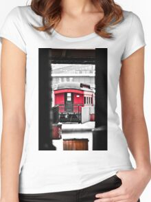 Peekabo ~ Station Sqaure  Women's Fitted Scoop T-Shirt