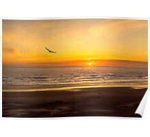 Tranquil Skys and High Color A Newport Oregon Sunset Poster