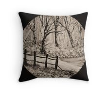 'Snow Whites wood' Throw Pillow