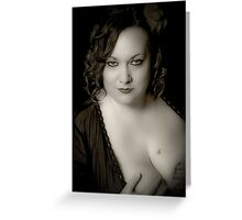 Beauty in Black & White Greeting Card
