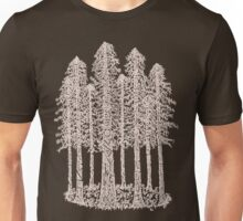 Coastal Redwoods Cathedral Ring Sketch - Red Number 2 Unisex T-Shirt