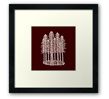 Coastal Redwoods Cathedral Ring Sketch - Red Number 2 Framed Print