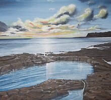 Kimmeridge Sunset by Annie Lovelass