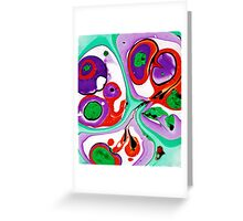 Abstract #10: Cell Dance Greeting Card