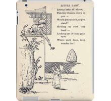 Miniature Under the Window Pictures & Rhymes for Children Kate Greenaway 1880 0052 Little Baby iPad Case/Skin