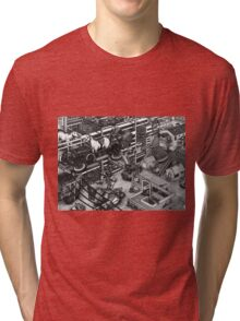 The cleaning robots and the futureistic Moxie horse mobile Tri-blend T-Shirt
