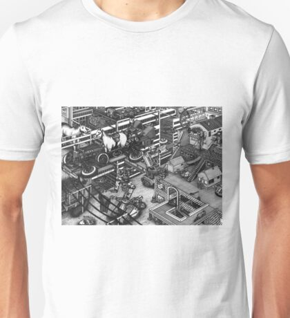 The cleaning robots and the futureistic Moxie horse mobile Unisex T-Shirt