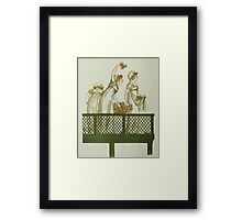Language of Flowers Kate Greenaway 1884 0008 Maids on Balcony Framed Print