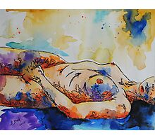 Self Portrait in Watercolor and Ink. Photographic Print
