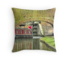 Canal Time - Bank Holiday Throw Pillow