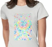 Rainbow Cubes & Diamonds Womens Fitted T-Shirt