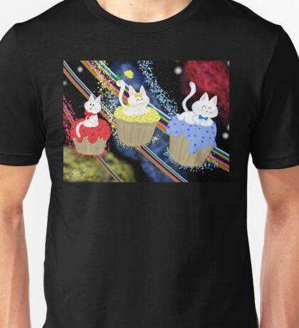 Space Cupcake Kittens Unisex T-Shirt