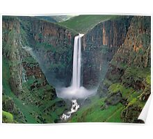 The Maletsunyane Falls,Lesotho,Africa Poster