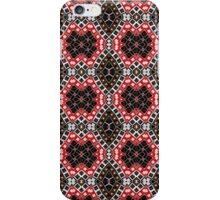 Red, Brown and Black Abstract Design Pattern iPhone Case/Skin