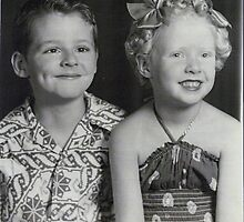 My brother and I in 1953... by DonnaMoore