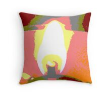 White Hot Abstract Throw Pillow