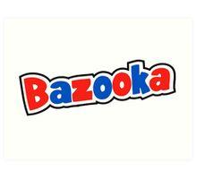 Bazooka retro bubble gum Art Print