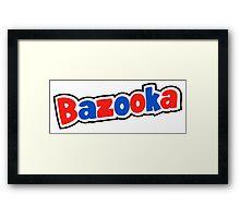 Bazooka retro bubble gum Framed Print