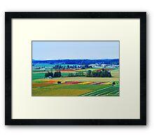 Over Skagit Valley Framed Print