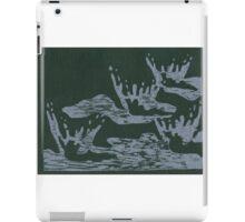 Rainstorm Woodblock Print iPad Case/Skin