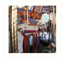 Horse from the carousel  Art Print