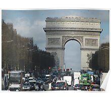 Parisian Traffic Jam Poster
