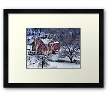 Winter Down in the Valley Framed Print