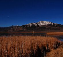 Black Mountain Peak by Moonlight by Chris Morrison