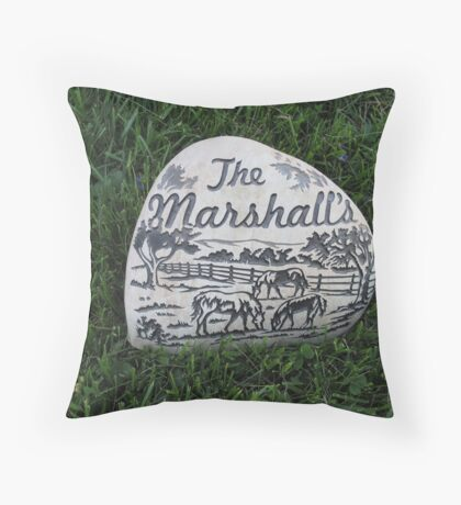 The  Marshalls Throw Pillow