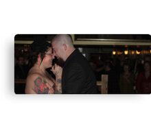 Bride and Groom pt 2 Canvas Print