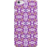 Purple, Yellow and White Abstract Design Pattern iPhone Case/Skin