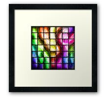 Abstract Color Tiles Framed Print