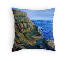 East Point Cliffs Throw Pillow