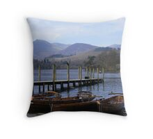 boats at Keswick Throw Pillow