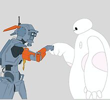 Chappie and Baymax by Woody2015