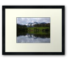 The Langdale Pikes from Loughrigg Tarn Framed Print