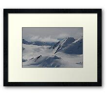 Reach Out Of The Plane And Touch That Glacier Framed Print