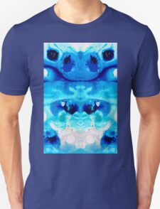 Happiness - Blue Abstract Art By Sharon Cummings T-Shirt